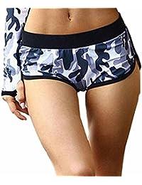 Femmes Mini Short de Sport, Femmes ete Sexy Casual Camouflage Courir Yoga Gym  Fitness Pantalon bde2bc6847dc
