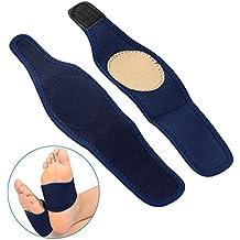 SOUMIT Orthotics Bandage   Weich Baumwoll Füße Pads mit Senkfuß Spreizfuß, Kompression Massage Fuß Sleeve für Plantar Fasciitis, Fußschmerzen und Schmerzlinderung (Männer & Frauen)