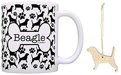 stmas Ornament & German Shepherd Coffee Mug Tea Cup Bundle Dog Stocking Stuffer ()