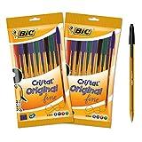 BIC 962705-Set di 20cristallo Original stylos-billes punta fine