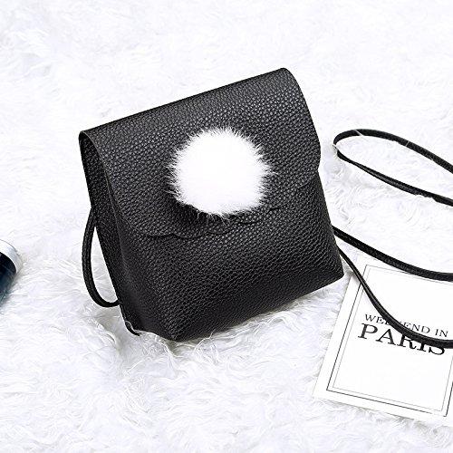 GUANGMING77 _ Diagonal Square Mini Borsa Bag,Grigio Black