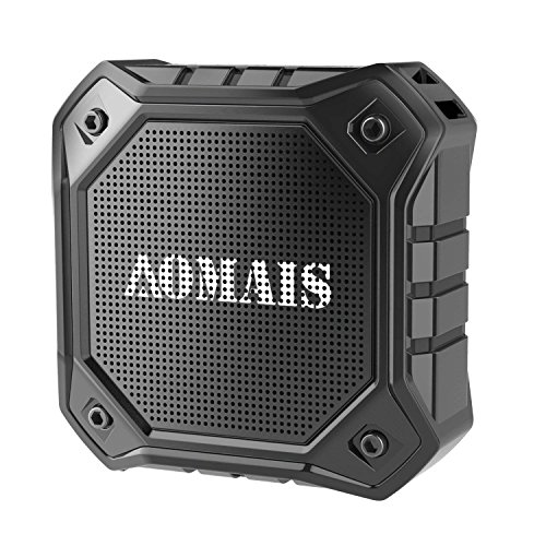 Wireless Bluetooth Lautsprecher, AOMAIS OUTDOOR Tragbarer Kablellose Wasserdichter IPX7 Bluetooth Lautsprecher: Stereo-Pairing Funktion, Lauter Lautstärke mit Bass, 8W Ausgang, Für Smartphone, Tablet, PC, Laptop, MP3(Schwarz)