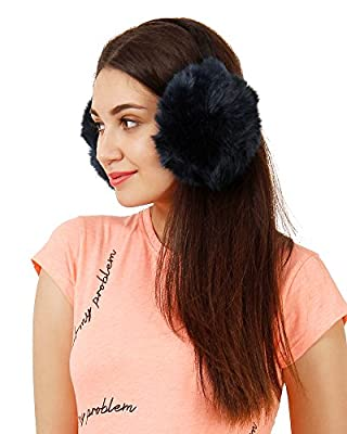 FabSeasons Faux Fur Winter Outdoor Accessory Foldable Ear Muffs/Warmer for Girls & Women for protection from Cold, Ideal Head/Hair Accessory during winters
