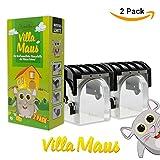 Avantina Mausefalle Lebend - Villa Maus - die tierfreundliche Lebendfalle - Mäuse mit Dieser Mausefalle lebend und spielend leicht fangen