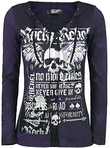 Rock Rebel by EMP Stay Girls Longsleeve Black-Lilac