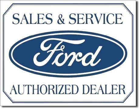 Enseigne Métal Ford Sales and Service