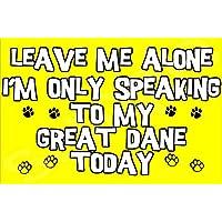 Déjame en paz sólo voy a hablar con mi gran danés hoy perro - Jumbo de imán/regalo