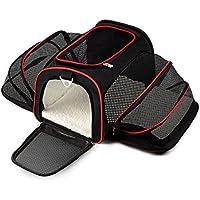 PETCUTE Transportadora de Perros Portador Plegable para Mascotas Bolso de Transportín Plegable y Extensible para Perros y Gato