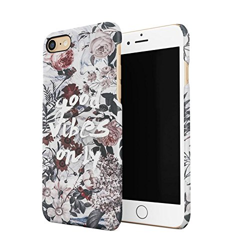 Lily Handy Snap (Good Vibes Only Various Flower Pattern Durable Hard Plastic Snap On Phone Case Cover Shell For iPhone 7 Handy Hülle)