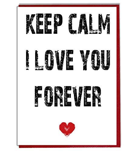 Keep Calm i Love you Forever-Romantic Love carta