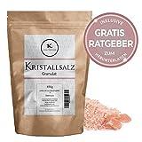 Kristallsalz - grob - 850g | rosa Steinsalz aus Pakistan Himalaya Gebirge inkl gratis Ratgeber | Himalayasalz edles Natursalz | naturbelassenes Ursalz