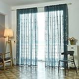 Topker Multifunción pequeña flor gasa bordada cortina de tul ventana de cortinas cortinas Sheer...