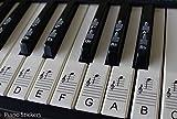 Keyboard- oder Klavieraufkleber bis zu 88Noten, für die schwarzen und weißen Tasten, laminiert, PSBW 88