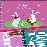 Album de Recuerdos del Primer Año del Bebé - Agenda del 1er Año por Unconditional Rosie. Libro + 12 Pegatinas Incluidas (Libro Escrito en Idioma Inglés)