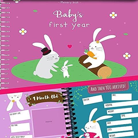 Erinnerungsbuch + Aufkleber - Tagebuch über das erste Jahr eines