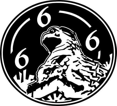 Gargoyle, Dämon, Wasserspeier, Wesen, Kirche, Teufel, 666 // Autoaufkleber // verschiedene Farben und Größen (Silber - 210 mm x 190 mm)