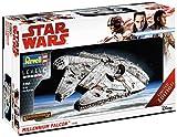 Revell 06880 Modellbausatz, Star Wars 1:144-Millennium Falcon, Level 5, orginalgetreue Nachbildung mit vielen Details-06880