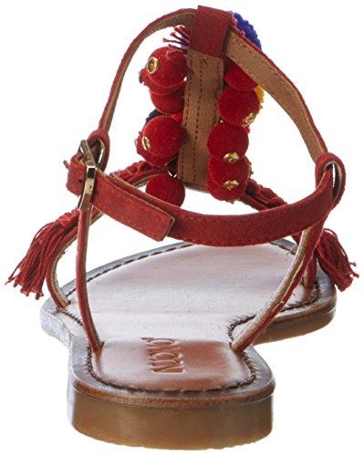 T 7327 Damen incrustações Sandálias vermelho Inuovo De Apodrecer Tq7pZEw