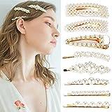 Simoda Mode Eleganze Perle Haarspangen,8 Stücke Süße Handmade Haarnadeln Künstliche Haarschmuck Dekorative Braut für Damen Frauen Mädchen zum Geburtstag Valentinstag Hochzeit Party Geschenke