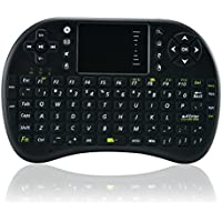 Dolotu Mini 2.4 GHz tastiera touchpad wireless con il mouse per, pc, pad, xbox 360 ps3, google android TV Box, HTPC, IPTV, Black, I8