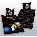 Sonnensystem Bettwäsche Herding Sonne Mond Mars Geschenk 140 x 200 cm Wow - All-In-One-Outlet-24 -
