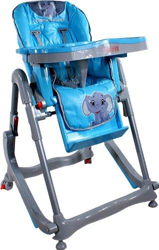 Chaise haute de bébé pour enfants ARTI Modern RT-004 Blue Little Elephant haute pour bébés avec transat, balancelle fonction
