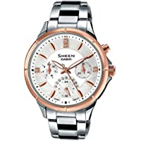 Casio Sheen Analog White Dial Women's Watch - SHE-3047SG-7AUDR (SX167)