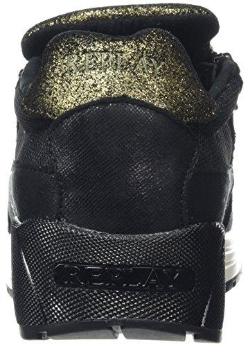 Replay Kilman, Baskets Basses Femme Noir - Schwarz (Black 3)
