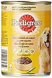 PEDIGREE - Les cuisines en sauce aux Petits Légumes - 3 variétés de boîtes pour chiens - pack de 6*400g Lot de 4