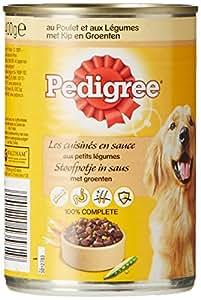 Pedigree Les Cuisines en Sauce aux Petits Légumes/3 Variétés de Boîtes 6 x 400 g pour Chien - Pack de 4