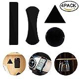Nakeey 4 Stück Gel Pad, Schwarz Gel Anti-Rutsch-Pads Antirutschmatte Auto100% Sticky Anti-Slip Klebepad für Handy Ständer