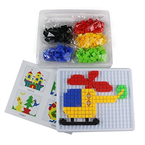 Mosaic Puzzle Intellect Toy Pegboard Jigsaw Puzzle Block Building Game for Kids Kindergarten Educational Toys for kid over 3 years old (420pcs)