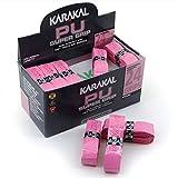 KARAKAL - PU Super Grip - selbstklebendes Griffband für Badminton, Squash, Tennis, Hockeyschläger oder Eisstock -  Pink 24er