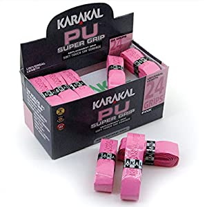 KARAKAL – PU Super Grip – selbstklebendes Griffband für Badminton, Squash, Tennis, Hockeyschläger oder Eisstock – 5er oder 24er Verpackungen – verschiedene Farben