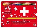 CARAN D ACHE Etui métal de 30 Crayons de couleur Swisscolor Assortis
