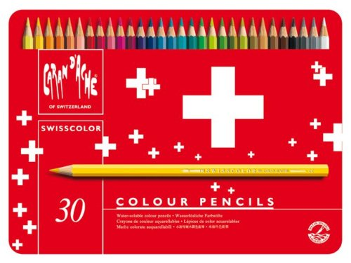 Caran d'ACHE - SWISSCOLOR Aquarelle Buntstifte in Metallbox - 30 Stück