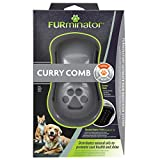 FURminator Striegel für Hunde-Fellpflege Hundebürste zum Ausbürsten von Staub und losem Haar für gesundes glänzendes Fell, mit Gummi Noppen und ergonisch geformtem Griff) - 3