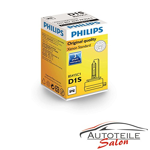 Philips D1S Xenon 85415 XenStart Standard Xenon Brenner Scheinwerfer Lampe Leuchte Autolampe 1Stück 12v 35w abblendlicht