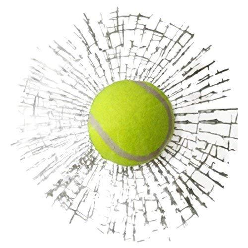FancyAuto Auto 3D Bälle Aufkleber Kreative Fanny Auto 3D Baseball Tennis Ball Hits Autofenster Auto Styling Aufkleber Aufkleber (Green Tennis)