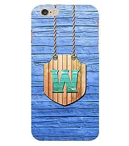 YuBingo Apple iPhone 6 Plus :: Apple iPhone 6+ Designer Phone Back Case Cover ( Wonderful Letter W (Wood Finish Plastic) )