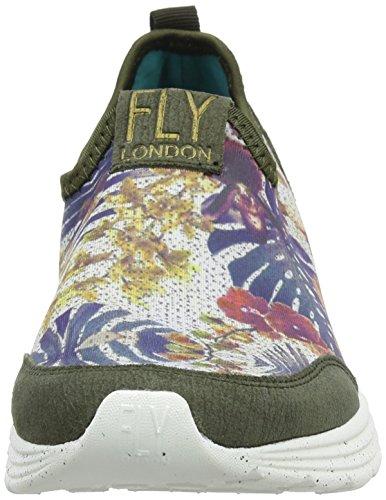 Fly London Sati949fly, Scarpe da Ginnastica Basse Donna Multicolore (taupe/floral 004)