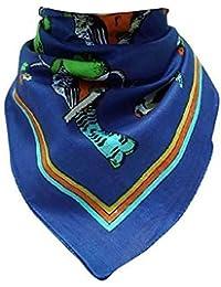 Bandana neck cloth birds blue