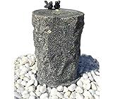 Dehner Gartenbrunnen Birds mit LED Beleuchtung, Ø 33 cm, Höhe 56 cm, Granit, grau