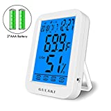 thermometer hygrometer digital,GULAKI Thermo-Hygrometer Raumklimakontrolle Raumluftüerwachtung