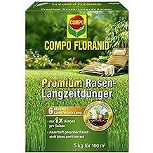 Compo floranid Premium Césped de larga duración para 5kg, volldünger, largo tiempo abono