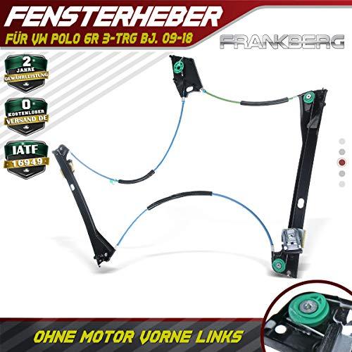Frankberg Fensterheber Elektrisch Ohne Motor Vorne Links für Polo 6R 3-TRG Bj.2009-2018 2009 Vw Van