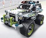 Modbrix Technik Pull Back Auto Polizeiauto Police Interceptor Konstruktionsspielzeug mit 185 Teilen