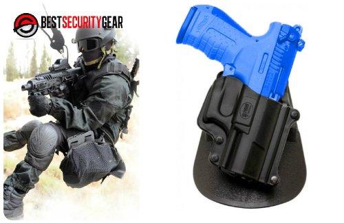 FOBUS Paddle Holster für Rechtshänder RH in schwarz für Walther P22 FOBUS WP22 + Best Security Gear Magnet (Pistole Swat-team)