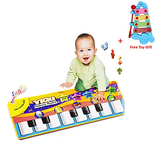 Musical Toys, Rcool Child Baby Musical Instrument Toys Touch Play Keyboard Music Singing Gym Carpet Mat Kids Gift