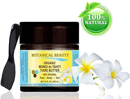 Tahiti-vanille-blume (Monoï de Tahiti Tiare Butter BIO 100% natürlich / 100% reine Pflanzen / unscented - 480 ml. Für Haut, Haare und Nagelpflege.